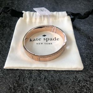 Kate Spade Hole Punch Spade Rose Gold Bangle